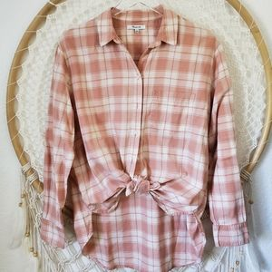 NWOT Madewell Cotton Flannel Button Down Shirt